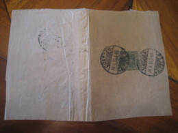 1910 DRESDEN 5 Pf Wrapper Postal Stationery Cover Partial Frontal GERMANY Empire Deutsches Reich - Alemania