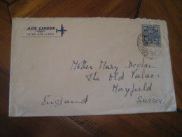 AER LINGUS Irish Air Lines To Mayfield England Stamp Cancel Cover IRELAND Eire - Airmail