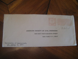 ST. LUCIA University Of Queensland 1971 To New York USA Meter Mail Cancel Postage Paid Cover AUSTRALIA - 1966-79 Elizabeth II