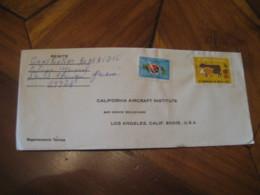 PANAMA 1972 To Los Angeles USA 2 Stamp On Cancel Cover - Panama