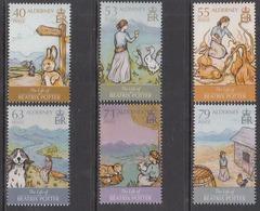 2013 Alderney Beatrix Potter Children's Literature  Complete Set Of 6 MNH @ 70% Face Value - Märchen, Sagen & Legenden