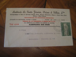 ALBERGARIA DOS DOZE 1969 To Figueira Da Foz Tobacco Advertising Stamp Cancel Cover PORTUGAL - 1910-... République