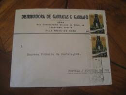 PORTO 1962 To Figueira Da Foz Garrafas Wine Enology Drinks Advertising 2 Stamp Cancel Cover PORTUGAL - 1910-... République