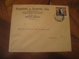 MARINHA GRANDE 1959 To Fontela Vidrios Garrafas Wine Enology Drinks Advertising Stamp Cancel Cover PORTUGAL - Lettres & Documents