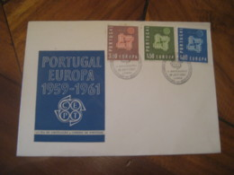 LISBOA 1961 Europa Cept Telecomunicaciones FDC Cancel Cover PORTUGAL - 1910-... République