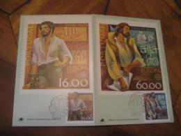 LISBOA 1980 Vasco De Gama & Serpa Pinto Europa Cept Maxi Maximum 2 Card PORTUGAL - Lettres & Documents
