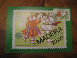 FUNCHAL 1981 Madeira Europa O Bailinho Music Dance Maxi Maximum Card PORTUGAL - 1910-... République