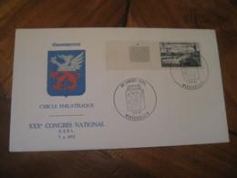 WASSERBILLIG 1973 Expo Phil 30 Congres FSPL Cancel Port Fluvial Mertert Stamp On Cover LUXEMBOURG - Luxemburgo