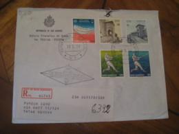 SAN MARINO 1978 To Genova Baseball Europa Health FDC Cancel Registered Cover ITALY - Lettres & Documents