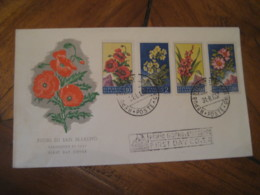 SAN MARINO 1957 Flower Flora FDC Cancel Cover ITALY - Saint-Marin