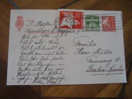 KOBENHAVN 1933 To Berlin Germany Poster Stamp Label Vignette On Postal Stationery Card DENMARK - Covers & Documents