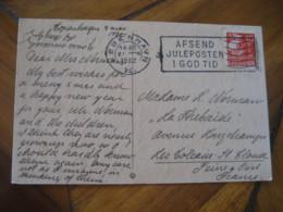 KOBENHAVN 1932 To Les Coteaux St. Cloude ? France Stamp On Bell Post Card DENMARK - 1913-47 (Christian X)