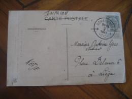 SCHAERBEEK 1912 To Liege Cancel LUCHON France Gouffre De Bonneau Post Card BELGIUM - Belgien