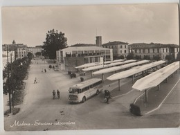 MODENA STAZIONE AUTOCORRIERE F/G VIAGGIATA 1954 - Modena