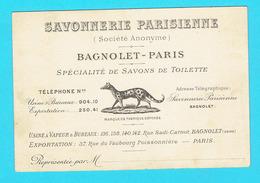 Cartes De Visite Savonnerie Parisienne Bagnolet Paris - Savon Parfum - Perfume & Beauty