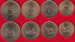 North Macedonia Set Of 4 Coins: 50 Deni - 5 Denari 1993-2001 UNC - Macedonia