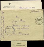 P0462 - DR Feldpost Briefumschlag NSDAP Verwundetenabteilung Ostland: Gebraucht Feldpost Kriegslazarett Schaulen Litau - Lettres & Documents