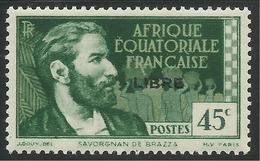 AFRIQUE EQUATORIALE FRANCAISE - AEF - A.E.F. - 1941 - YT 106** - A.E.F. (1936-1958)