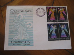 CHRISTMAS Island Indian Ocean 1972 Christmas FDC Cancel Cover - Christmas Island