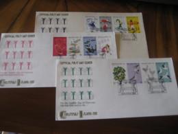 CHRISTMAS Island Indian Ocean 1977 Christmas 12 Stamp FDC Cancel 3 Cover - Christmas Island