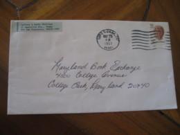 GUAM 1987 To College Park Maryland USA Shell Stamp Cancel Cover USA FPO San Francisco Oceania - Guam