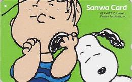 TC Japon / 110-1193194 - BD Comics - CHIEN SNOOPY ** BANQUE SANWA BANK ** - PEANUTS DOG Japan Phonecard - 1348 - Comics