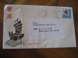 KOWLOON Hong Kong To Berlin Germany Stamp Cancel Cover British Colonies China Chine - Other