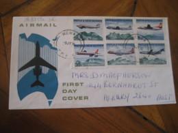 WEWAK Papua & New Guinea 1970 To Albury Australia Yvert 178/83 Set Air Services FDC Cancel Air Mail Cover - Papouasie-Nouvelle-Guinée