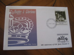 KINGSTOWN St. Vincent And Grenadines 1993 Coronation Ann. QEII Royalty FDC Cancel Cover British Colonies Area America - St.Vincent & Grenadines