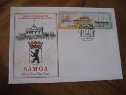 SAMOA 1990 Treaty & Opening Berlin Wall FDC Cancel Cover - Samoa