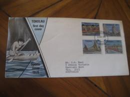 NUKUNONU Tokelau 1978 Canoe Racing Canoeing FDC Cancel Cover - Tokelau