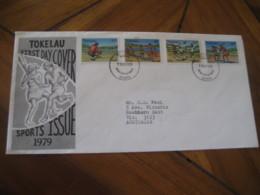NUKUNONU Tokelau 1979 Cricket Rugby FDC Cancel Cover - Tokelau