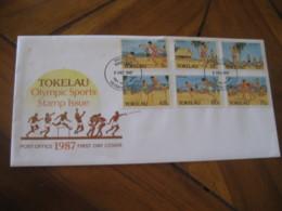 FAKAOFO Tokelau 1987 Olympic Sports Olympics FDC Cancel Cover - Tokelau