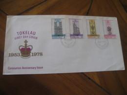 NUKUNONU Tokelau 1978 Coronation Anniversary QEII Royalty FDC Cancel Cover - Tokelau