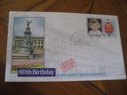 NIUTAO Tuvalu 1986 60th Birthday QEII Royalty 60c Stamp FDC Cancel Cover - Tuvalu