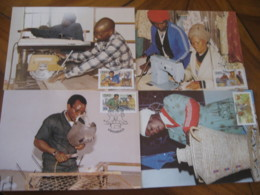 KWADIMBAZA Ciskei 1985 Small Industries Sewing Machine ... Maxi Maximum 4 Card - Ciskei