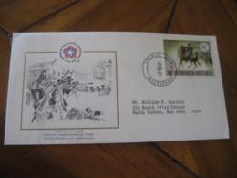 OUAGADOUGOU Upper Volta 1976 American Bicentennial Trenton Battle FDC Cancel Cover Republique De Haute-Volta - Haute-Volta (1958-1984)