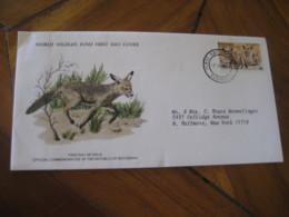 GABORONE Botswana 1977 To N. Bellmore USA Bat-eared Fox WWF Diminishing Species FDC Cancel Cover - Botswana (1966-...)