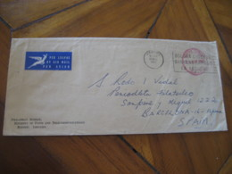MASERU Lesotho 1967 To Barcelona Cancel Postage Paid Air Mail Cover - Lesotho (1966-...)