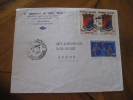 MAJUNGA Madagascar 1969 To Sweden 3 Stamp On Cancel Cover Malagasy - Madagascar (1960-...)
