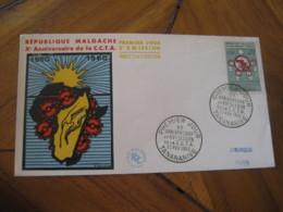 TANANARIVE Madagascar 1960 Cooperation Afrique Au Sud Sahara FDC Cancel Cover Malgache - Madagascar (1960-...)