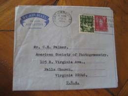 PORT HARCOURT Nigeria 1966 To Falls Church USA Stamp Cancel Air Mail Aerogramme Air Letter - Nigeria (1961-...)