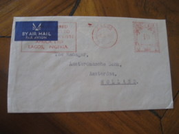 LAGOS Nigeria 1955 To Amsterdam Netherlands Meter Mail Cancel Air Mail Cover - Nigeria (1961-...)