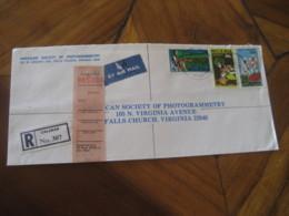 CALABAR Nigeria 1982 To Falls Church USA 3 Stamp Cancel Registered Air Mail Cover - Nigeria (1961-...)