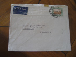 KHARTOUM Sudan 1953 To Liverpool England Stamp Cancel Air Mail Cover Soudan British Colonies Area - Soudan (1954-...)