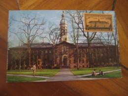PRINCETOWN 1956 Nassau Hall University Hospital Maxi Maximum Card USA - Cartoline Maximum
