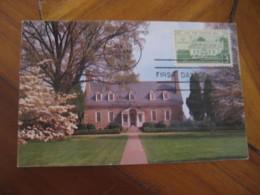 LORTON 1958 Gunston Hall Home Of George Mason Maxi Maximum Card USA - Cartoline Maximum