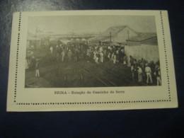 50 Reis Beira Caminho Ferro Train Station Cartao Postal Companhia Moçambique MOZAMBIQUE Portugal Colonies Stationery - Mozambique