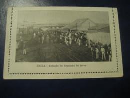 65 Reis Beira Caminho Ferro Train Station Cartao Postal Companhia Moçambique MOZAMBIQUE Portugal Colonies Stationery - Mozambique