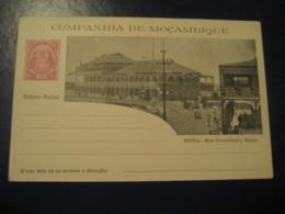 10 Reis Beira Conselheiro Ennes Street Bilhete Postal Companhia Moçambique MOZAMBIQUE Portugal Colonies Stationery - Mozambique